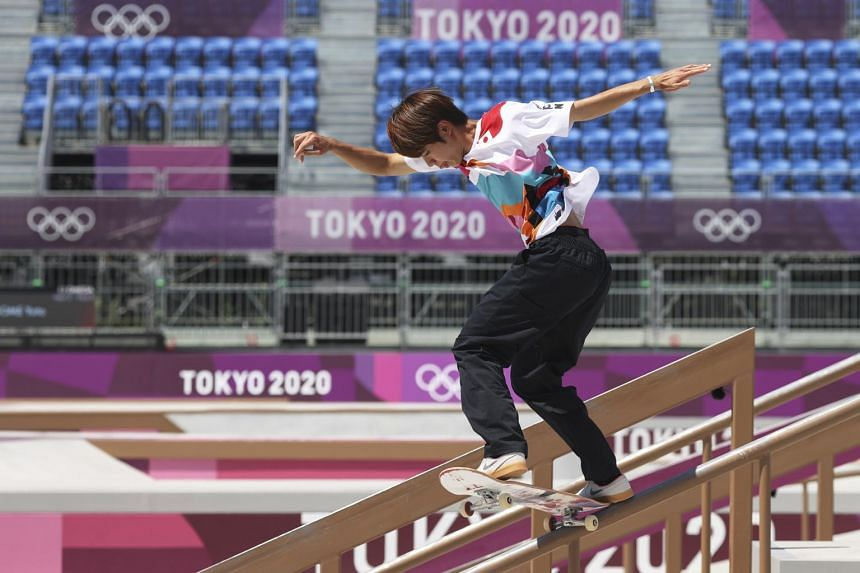 Yuto Horigome, who won gold in the Olympics men's street skateboarding, had left Japan so he could train to be a pro skater.