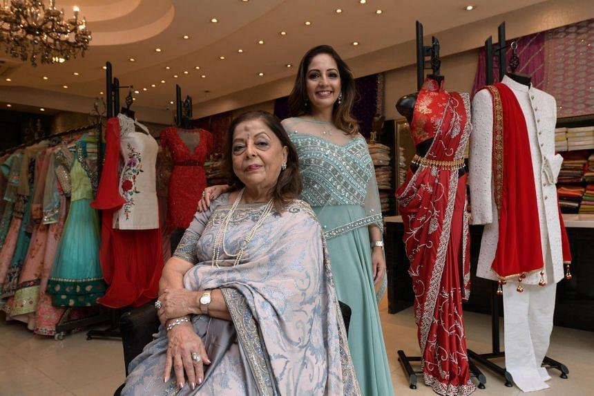 Stylemart managing director and fashion designer Kavita Thulasidas and her mother, Madam Huri Baxani.