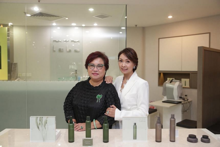 Susan Teng (left) and her daughter Kelly Keak run the Singapore franchise of Japanese skincare and spa brand MTM Labo.