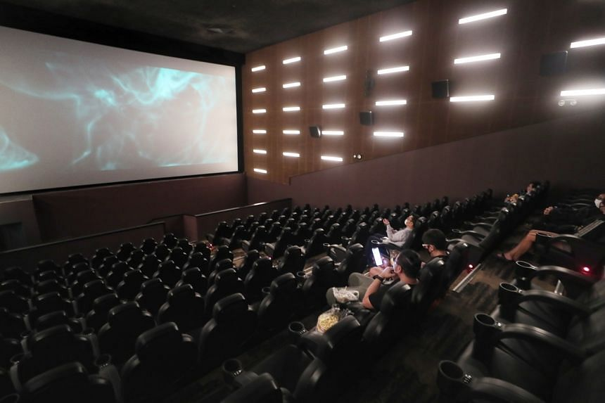 In cinemas, food and beverages may be served to groups of five if all customers are vaccinated.