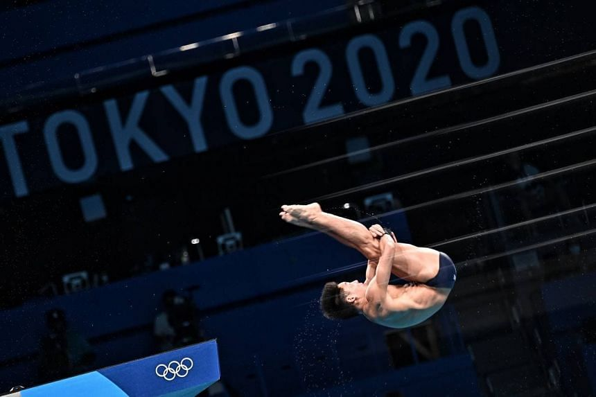 Diver Jonathan Chan during the men's 10m platform preliminary round at the Tokyo Olympic Games on Aug 6, 2021.