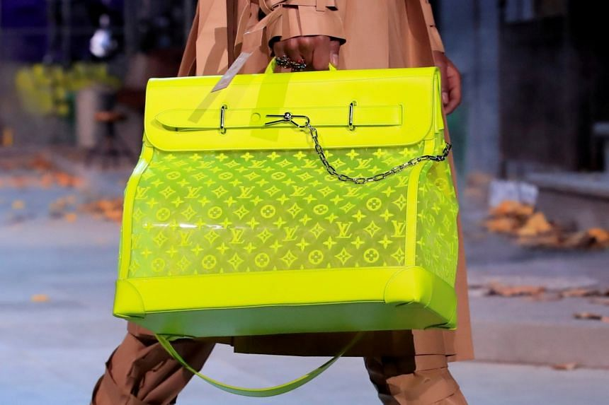 A bag designed by Virgil Abloh for fashion house LVMH in 2019.
