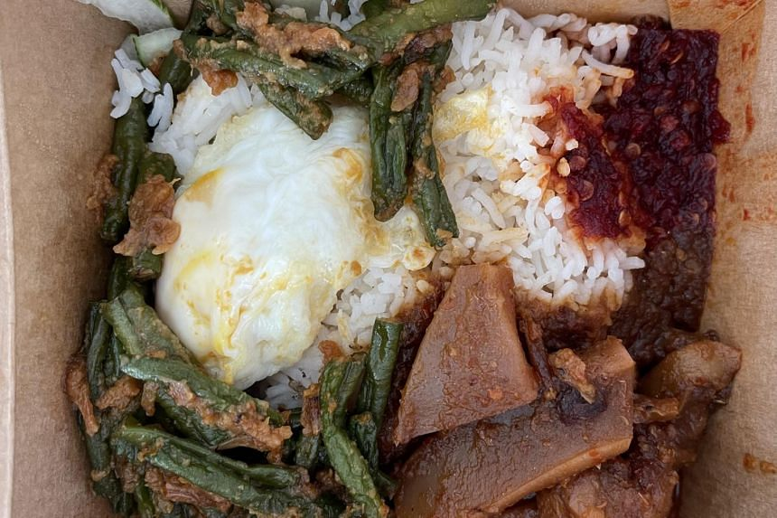 The Nasi Lemak With Sambal Cuttlefish from Crave.