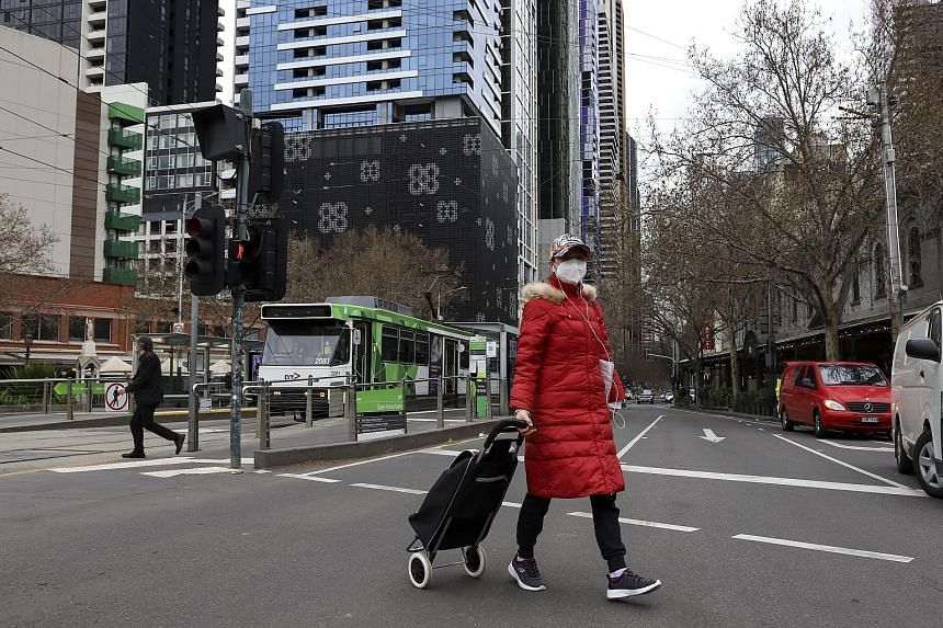 Few people out and about in Melbourne, which entered a week-long lockdown the day before, on Aug 6, 2021.