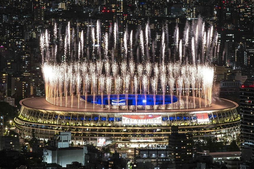 Fireworks lighting up the sky over the Olympic Stadium during the closing ceremony of the Tokyo 2020 Olympic Games last night. Athletes from 206 territories competed in 33 sports. In total, 26 world records were broken.