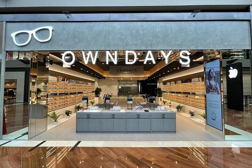 A premium concept Owndays outlet at The Shoppes at Marina Bay Sands, one of the three new stores the company opened here since the pandemic started. These stores bring its total number in Singapore to 31. The chain plans to open four more stores in S