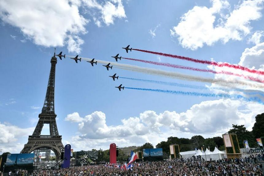 The only low point for Parisiens was the decision not to hoist a giant French flag at the Eiffel Tower due to high winds.
