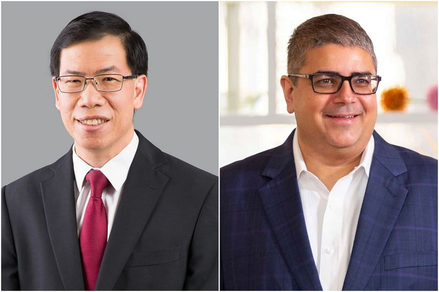 AGC chief executive Hui Choon Kuen (left) and SAL chief executive Rama Tiwari took on their roles early this year.