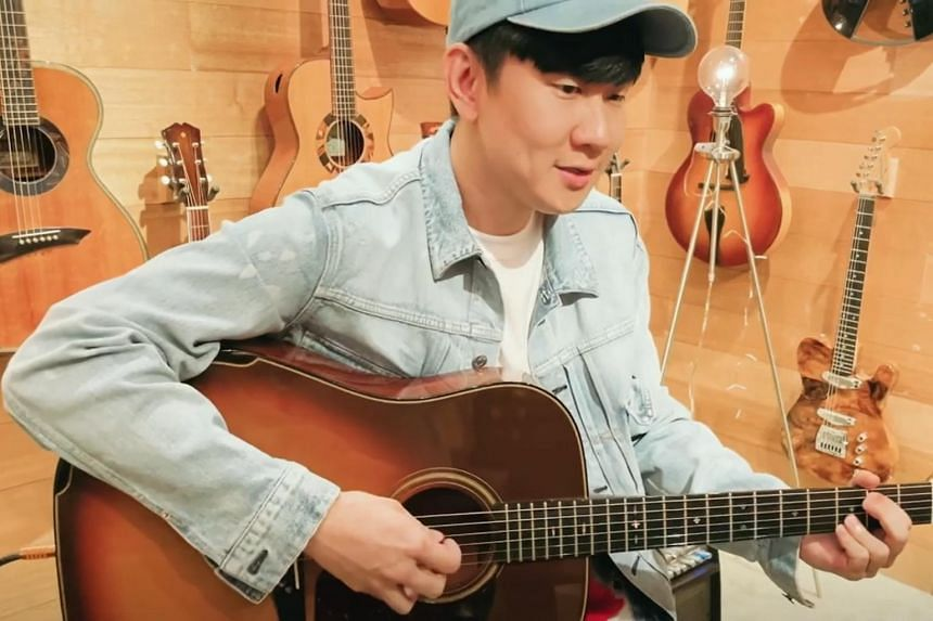 In the video posted on Instagram, JJ Lin strummed on the guitar and sang a medley.