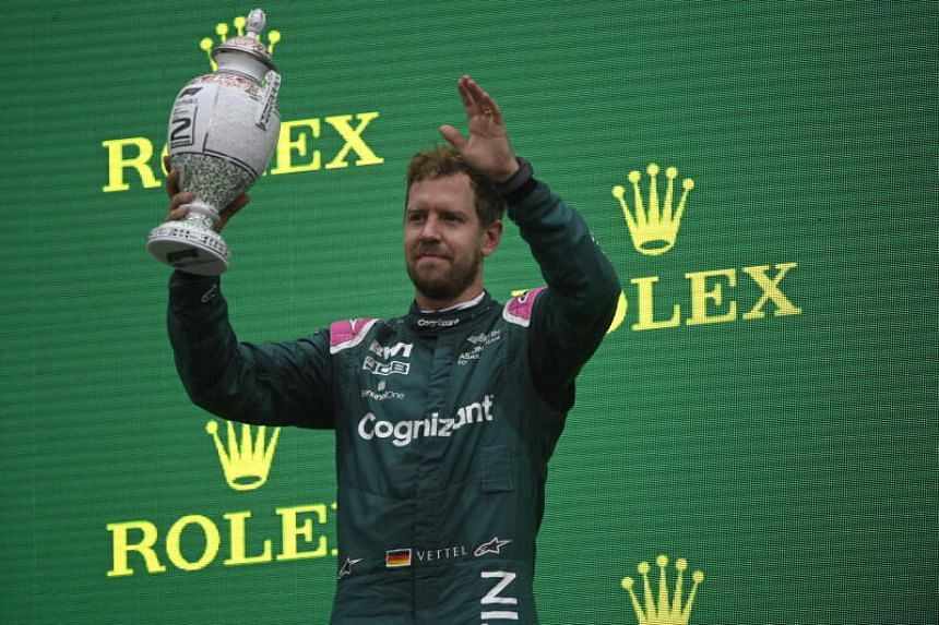Sebastian Vettel was stripped of second place after a required litre of fuel could not be extracted.