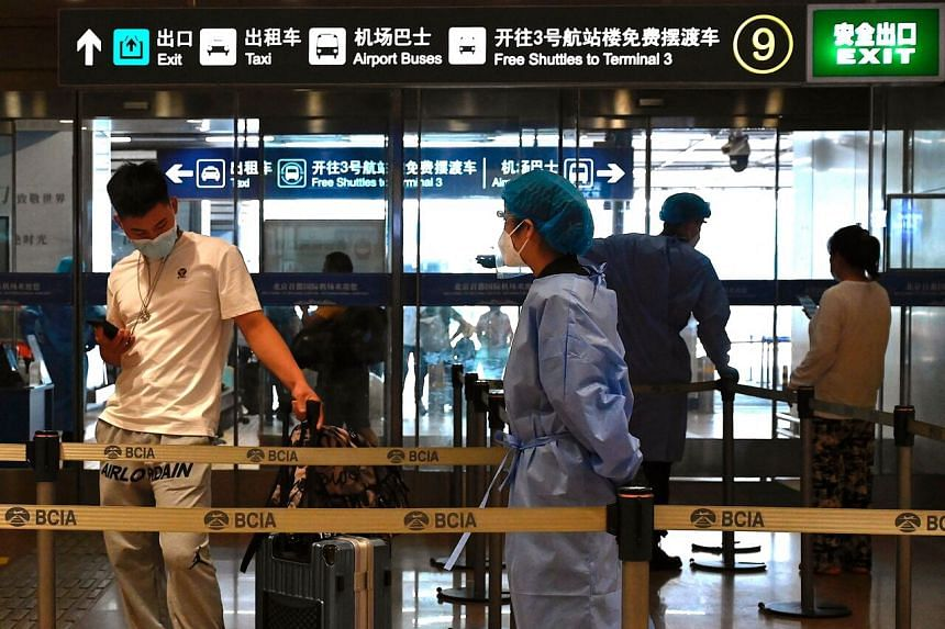 Flight capacity in China is pointing to a slump in travel.