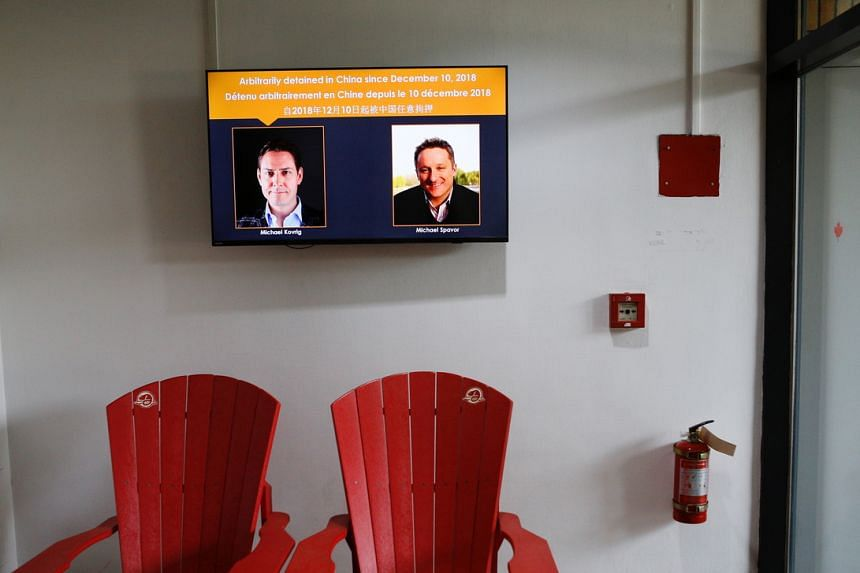 Michael Spavor (right, on screen) was detained in 2018 along with compatriot Michael Kovrig.