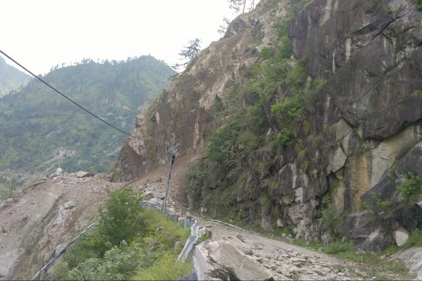 The landslide happened at 12.45pm local time, the Indo-Tibetan Border Police wrote on Twitter.
