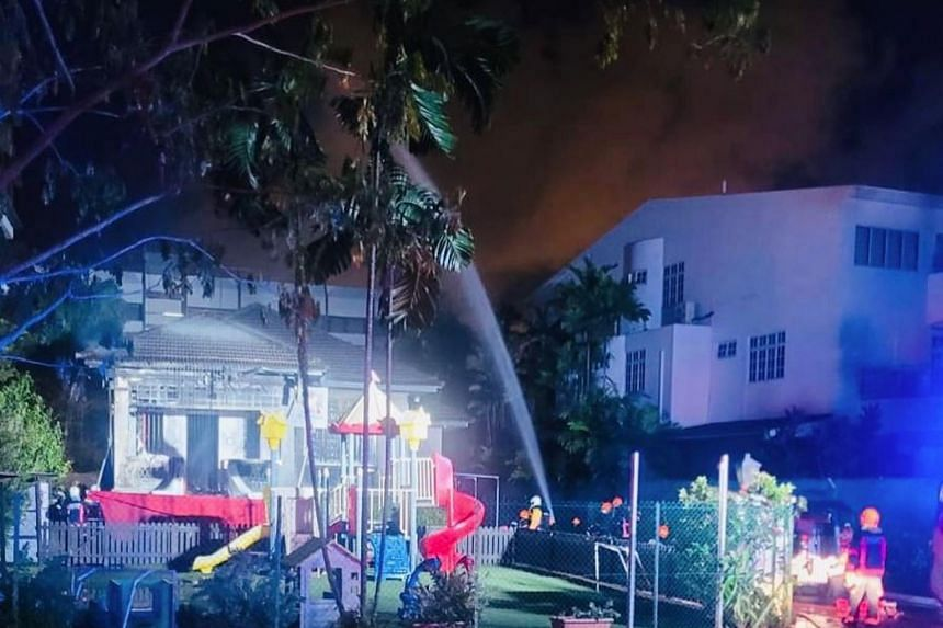 SCDF said the fire was extinguished using two water jets.