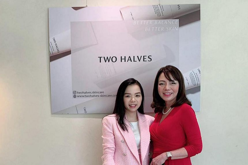 Two Halves founder Ashley Yong and her mother Mrs Jo Yong.