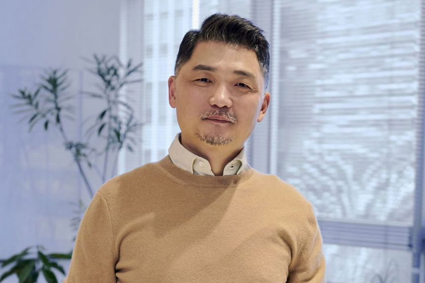 Brian Kim (above), the founder of mobile-messaging app Kakao Corp, recently replaced Samsung group heir Jay Y. Lee as the nation's richest person.