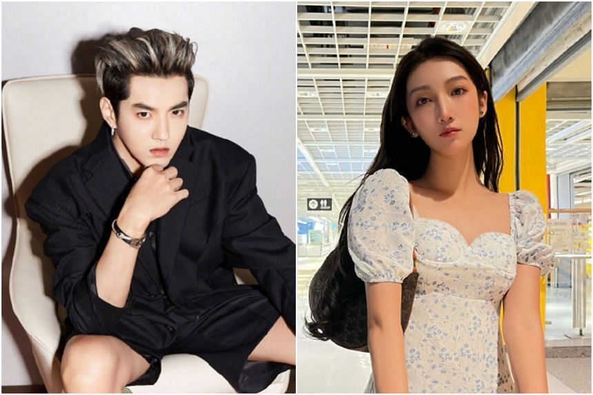 Chinese influencer Du Meizhu (right), who is rumoured to be Kris Wu's ex-girlfriend, says he lured young women by promising them acting and singing opportunities.