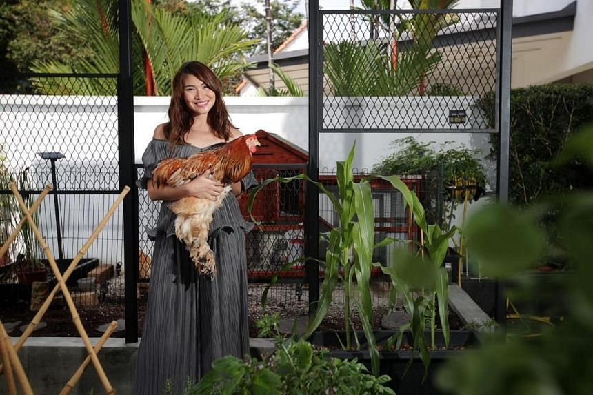 Bskin founder Chia Su-Mae leads a rustic lifestyle tending to a mini farm at home.