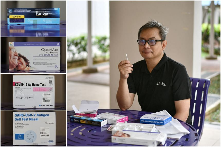 The Straits Times writer John Lui tries out four Covid-19 antigen rapid test kits.