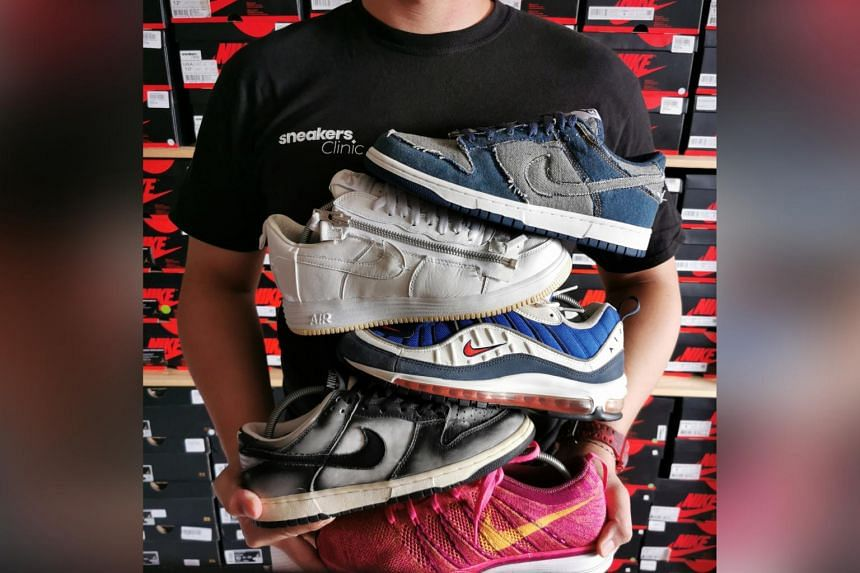 Mr Benjamin Lim runs a business from his home in Hougang, buying and reselling premium sneakers.