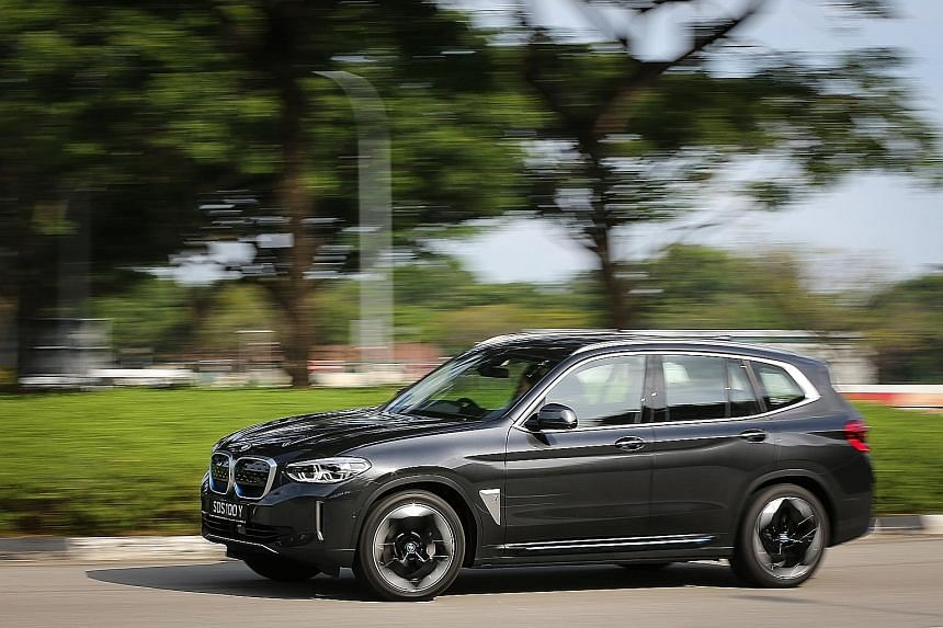 Motor companies, which have mostly been reluctant to import electric models until recently, said they are encouraged by the trend of rising electric vehicle (EV) sales. BMW recently launched the iX3 (above), an EV based on its X3 compact sport utilit