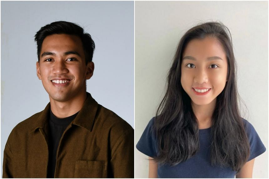 Mr Luqmanul Hakim (left) and Ms Sheryl Wong will be reading Global Studies and Chinese Studies respectively at the National University of Singapore.