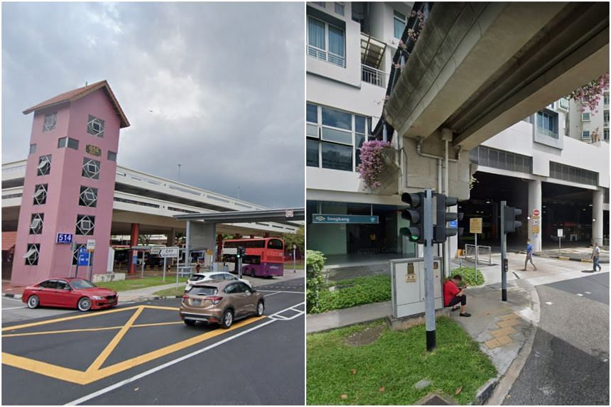 A total of nine cases are linked to the Bishan interchange (left), while 13 are linked to the Sengkang interchange.