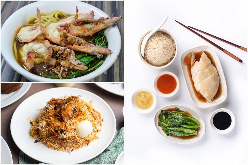 Singapore Airlines is featuring Beach Road prawn noodle, Boon Tong Kee's chicken rice and Bismillah Biryani Restaurant's chicken dum biryani, among others, on some of its flights from September.