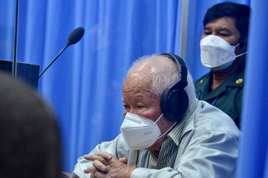 Former Khmer Rouge-era President Khieu Samphan was sentenced to life in prison.
