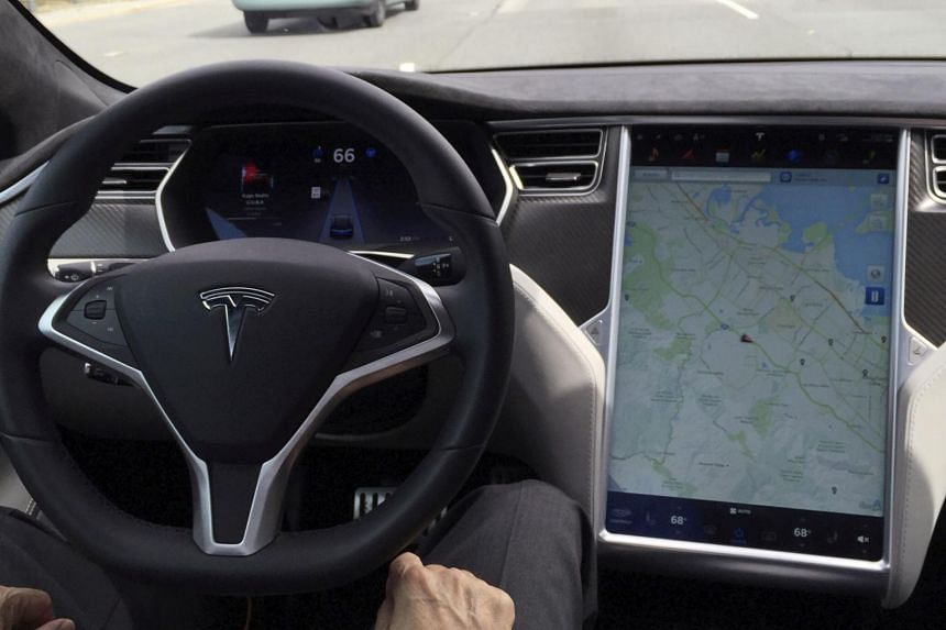 Autopilot is Tesla's driver assistance system that maintains vehicle speed and lane centring when engaged.