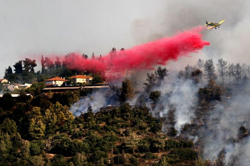 Ten firefighting planes and a helicopter supported hundreds of firefighters.