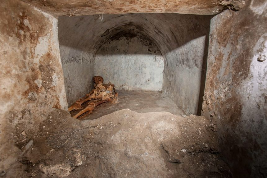 The body of the man was found in a tomb which dated to the final decades of Pompeii.