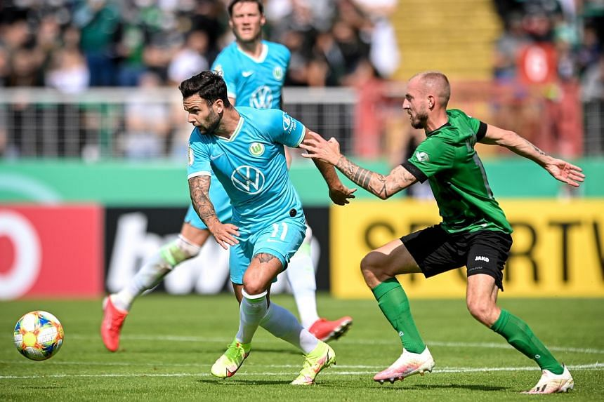 The mistake happened when Wolfsburg's cup tie at fourth-tier minnows Preussen Munster on Aug 8 went to extra time.