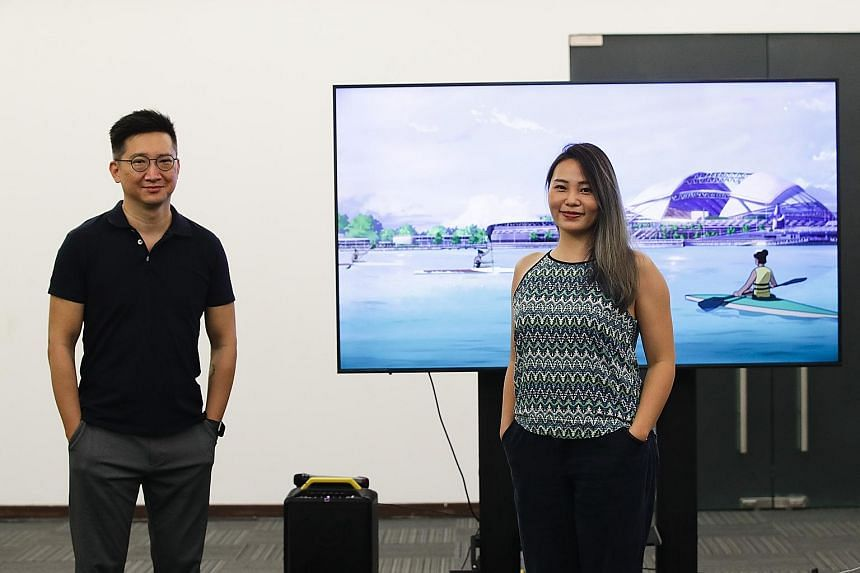 Co-founder Ervin Han and production manager Elaine Chan of Robot Playground Media, the animator of a 14-minute feature film that complements the National Day Parade. The company spent 10 months designing and revising between 12,600 and 21,000 hand-dr
