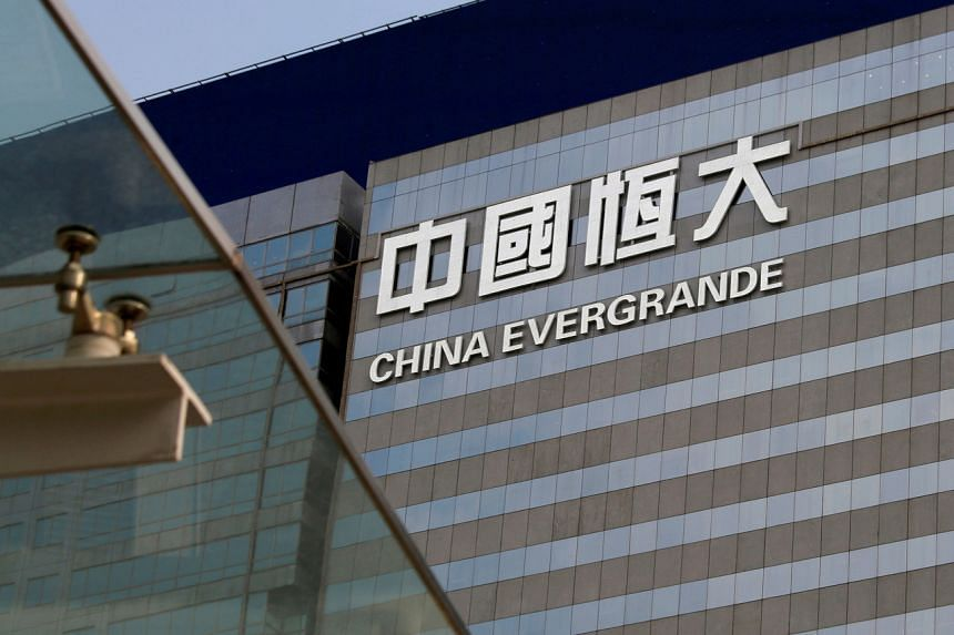 Evergrande's shares fell as much as 4.9 per cent in Hong Kong trading on Aug 18, 2021.