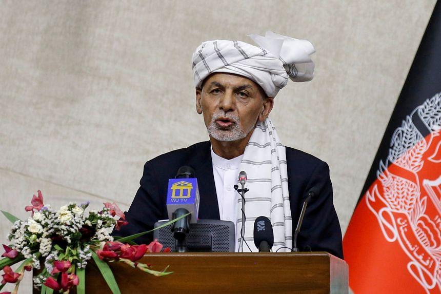 "Afghan president Ashraf Ghani said he fled to avoid a ""flood of bloodshed""."