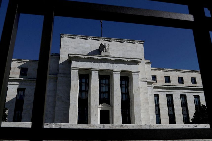 The Federal Reserve Board building is pictured in Washington.