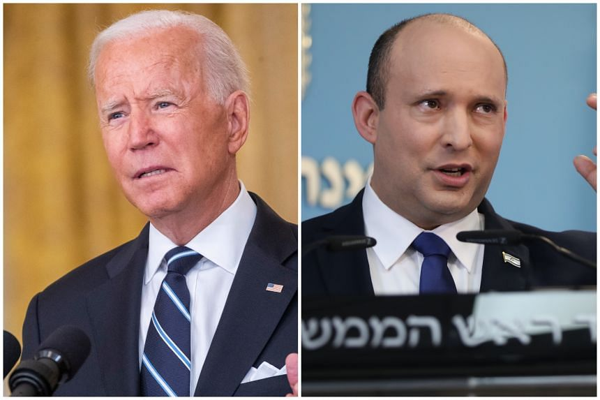 US President Joe Biden (left) and Israeli Prime Minister Naftali Bennett will discuss critical issues related to regional and global security, including Iran.