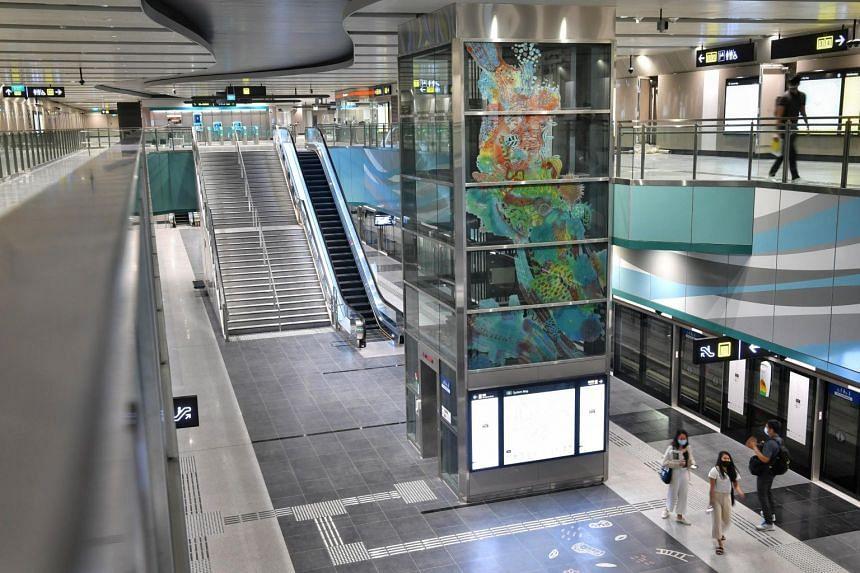 The art installation at Bright Hill MRT station.