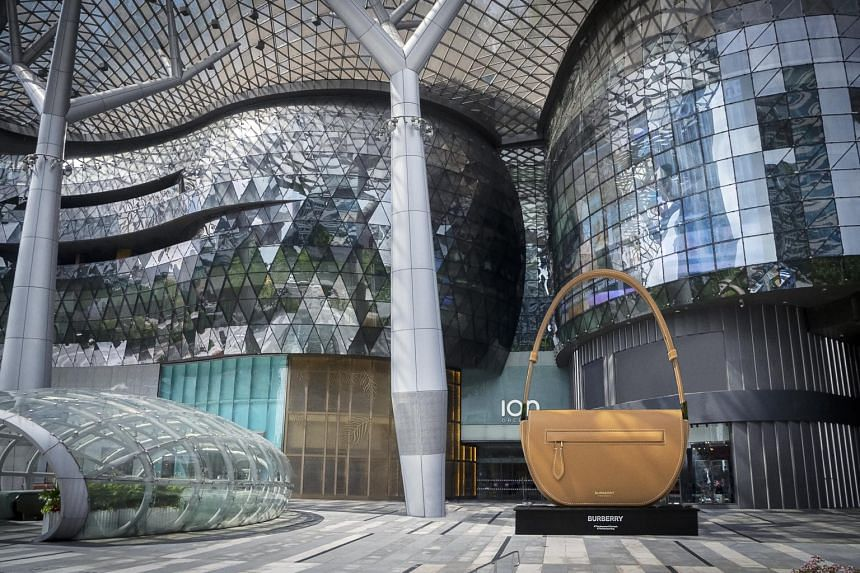 The sculptural, larger-than-life Olympia bag from Burberry is a travelling installation that was unveiled in London in June.