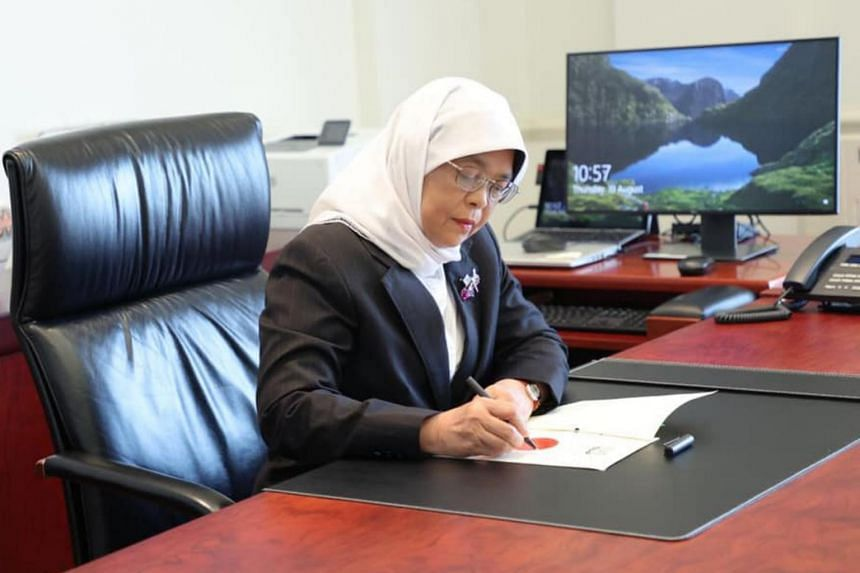President Halimah Yacob gave her assent to the FY2021 Supplementary Supply Bill on Aug 19, 2021.