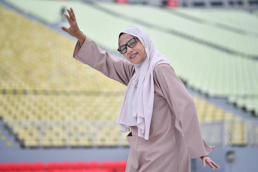 Mdm Jumariah Jumaruddin, 60, is performing in Act Three of National Day Parade.