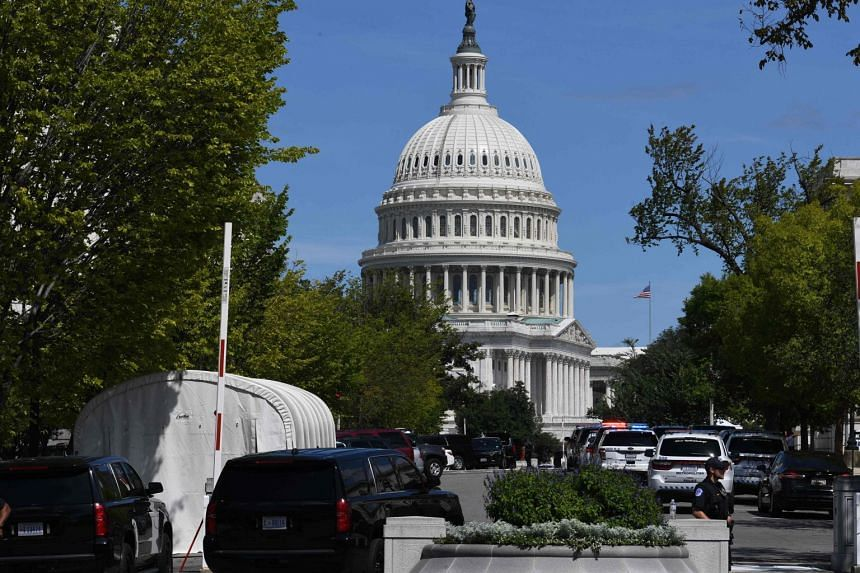 Police investigate a possible bomb threat near the US Capitol and Library of Congress in Washington.