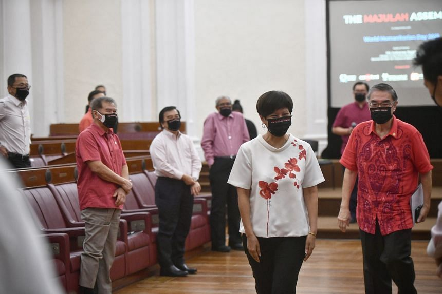 Minister in the Prime Minister's Office Indranee Rajah at The Majulah Assembly held at The Arts House on Aug 19, 2021.