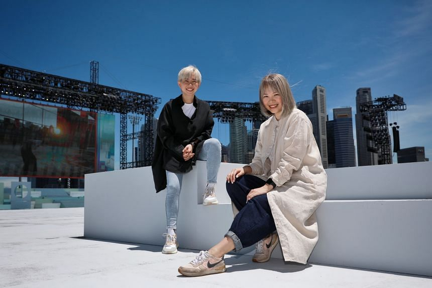 Carrie Yeo (right) and Chen Diya said the lyrics hold additional meaning in light of the pandemic.