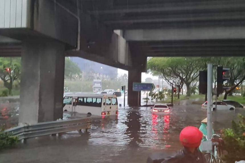 The situation at a junction in Tampines.