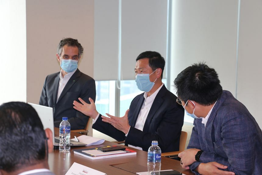 Health Minister Ong Ye Kung during a European Chamber of Commerce dialogue on Aug 20, 2021.