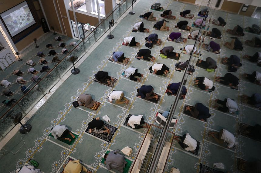 The Darul Ghufran mosque is one of five mosques offering seven zones with 1,050 spaces for Friday prayers.