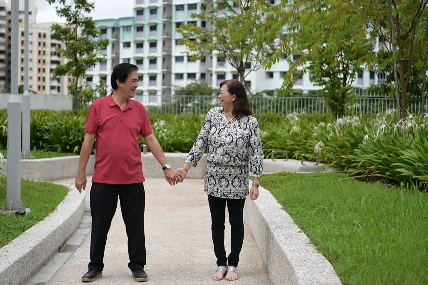 Mr Michael Wu, 63, and Ms May Som, 59, tied the knot in March.