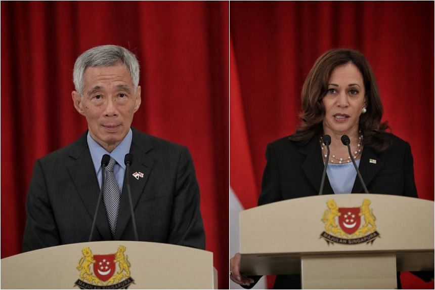 Prime Minister Lee Hsien Loong announced the three agreements during a press conference at the Istana with US Vice-President Kamala Harris on Aug 23, 2021.
